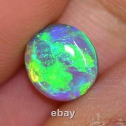 1.40 Cts Australian Semi Black Crystal Solid Opal, Lightning Ridge, Cabochon