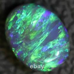 1,45 Cts Australian Black Opal Lightning Ridge, Gem Solide Pierre, Cabochons