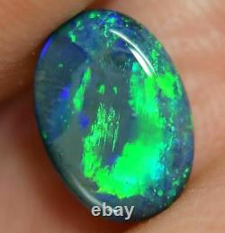 1.45 Cts Australien Solid Opal Noir, Pierre Gemme Solide, Lightning Ridge