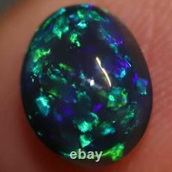 1,65 Cts Australian Black Opal Lightning Ridge, Gem Solide Pierre, Cabochons