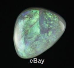1.6ct Splendide Flashy Véritable Green Ridge Foudre Solid Black Opal Gem A314