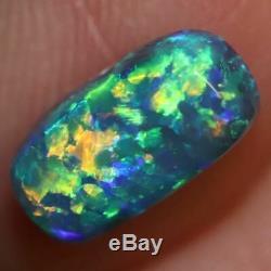 1,70 Cts Australian Black Opal Lightning Ridge, Solide Gem Pierre, Cabochons, Vert
