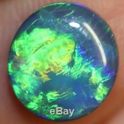 1,82 Cts Australian Black Opal Lightning Ridge, Gem Vert Solide Pierre, Cabochons