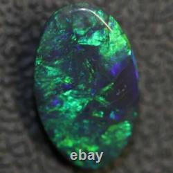 1,85 Cts Australian Black Opal Lightning Ridge, Gem Solide Pierre, Cabochons