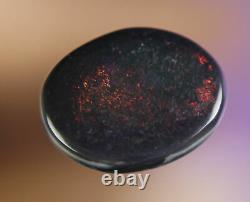 1. Ct Ne Manquez Pas Pretty Lava Red Lightning Ridge Solid Black Opal Gem A475