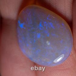 10.25ct Solide Australien Naturel Peau Opale Shell Attractive Bleu Vert Couleur