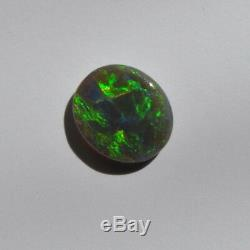 11x10mm 2.35ct Australian Black Opal Lightning Ridge Natural Solides En Vrac Pierre
