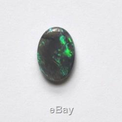 11x7.8mm 1.51ct Naturel Solid Black Crystal Opale Lightning Ridge Pierre Vert