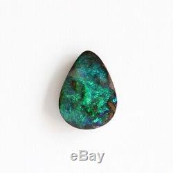 12 X 9mm 2.91ct Australien Opale Boulder Naturel Solide Lâche, Non Fixé Pierre Vert