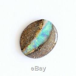 13 X 11mm 3.49ct Opale Boulder Australienne Pierre Naturelle Pleine, Détachée, Ovale Verte