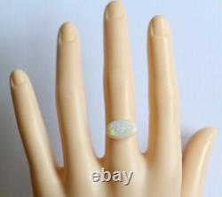 14,5 X 9,5 MM 2.70ct Solide Blanc / Cristal Opale Australienne En Vrac Naturel
