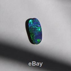 14.9 X 7mm 4.07ct Australien Boulder Opal Naturel Solide Lâche Unset Bleu Vert