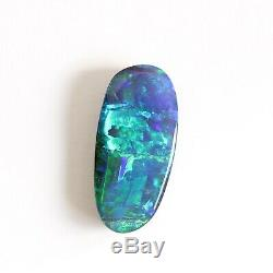 14.9 X 7mm 4.07ct Australien Opale Boulder Naturel Solide Lâche Unset Bleu Vert