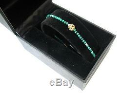 14 K Or Jaune Solide Perles Naturelles Opale De Pierres Précieuses Malachite Bracelet Rose Vert