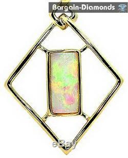 14k Opale Solide Pendentif En Or Massif Rouge Vert Opalo Opala Amour Australien Opale