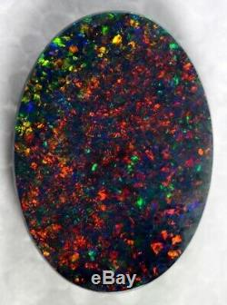 (1536) 7.35ct Double Face Rouge Gem Solid Quality Black Opal