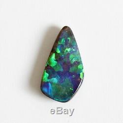 16x8mm 3.90ct Naturel Solide Opale Boulder Loose Pierre Vert Bule Violet