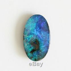 18 X 10mm 6.95ct Opale Boulder Pierre Naturelle Lâche Solide Australie Bleu Vert