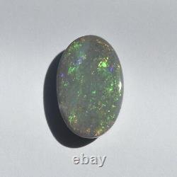 18x11mm 6.64ct Lightning Ridge Black Opal Australie Natural Solid Loose Stone