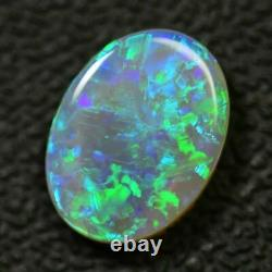 2.23 Cts Australien Semi Noir Opale Solide, Éclairage Ridge, Cristal