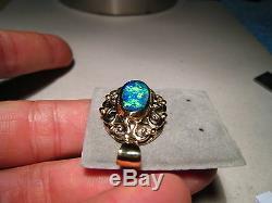 2,5 Ct. Pendentif D'opale Australienne 6,5 Grammes D'or Jaune Massif 14 Kt