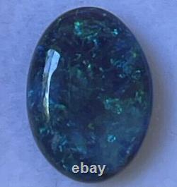 2.50ct Bleu Vert Opale Solide De La Foudre Ridge