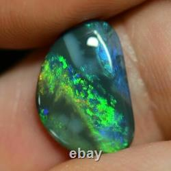2.53 Cts Australian Black Opal Solid Cut Pierre, Lightning Ridge