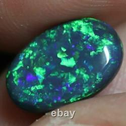 2.55 Cts Australian Black Opal Lightning Ridge, Solid Gem Stone, Cabochon
