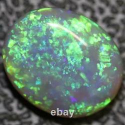 2,57 Cts Australian Semi Black Opal Solide Lightning Ridge Cabochon En Vrac Pierre