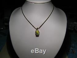 2,75 Ct Opale Australienne Solide Pendentif En Or Jaune 14 Kt Rouge Et Vert