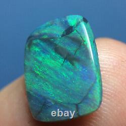 2.90ct Quality Australian Lightning Ridge Solid Black Opal Pretty Greens Video