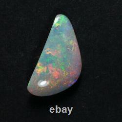 2.9ct Solid Australian Natural Skin Shell Opal Orange Lime Vert Couleurs