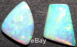 2 Pierres Opaques Opalesques De Cristal Australien - Verts Et Bleus Vives (1804)