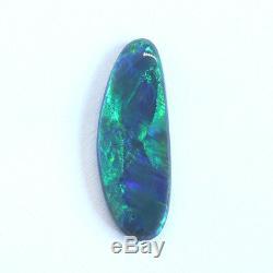 27x10mm 6.56ct Noir Opale Solide Lightning Ridge Australie Vert Lâche Naturel