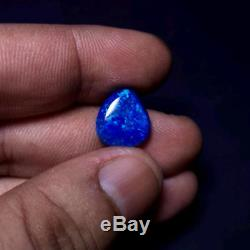 3,62 Cts. Excellente Opale Australienne Noire Solide De Feu Bleu De Feu De Feu Bleu Vert
