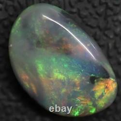 3.64 Cts Australian Semi Black Opal, Solid Lightning Ridge Cabochon, Loose Stone