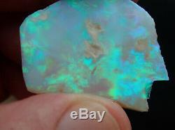 39ct Éclairage Solide Green Ridge Opal Rub À Partir D'un Miners Hoard