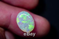 4.32ct Cristal Solide Opal Lightning Ridge Coa280120 Joyau Lumineux