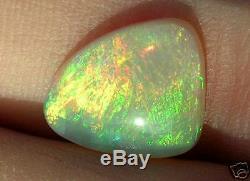 4/5 N7 Gem Opale De Cristal Vert Orange Solide 3.42cts