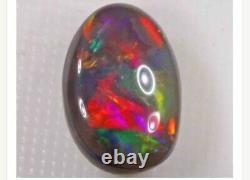 4 Carat Black Opal N2 Lightning Ridge Solid Opal Red Blue Green Orange
