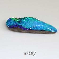 41x12mm 31.60ct Boulder Australien Naturel Solide Opal Lâche, Bleu Foncé Vert