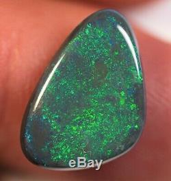 5.10 Cts Lâche Solide Noir Perle Lightning Ridge Australian Opal Bc291219
