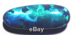 5.48ct Australien Lightning Ridge Black Opal Taillé (1756)