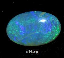 6.19c Cabochon Australien Opaque Bleu Clair Et Vert Naturel De Lightning Ridge