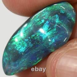 6.46 Cts Australian Black Solid Opal Carving, Lightning Ridge Cmr