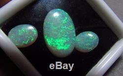 7.01ctw Solide Naturel Bleu Clair Vert 3 Australien Pierres Précieuses Bn Livraison Gratuite