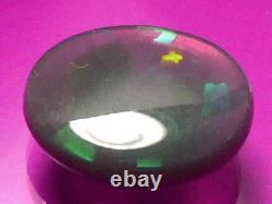 7.17 Carat Rolling Harlequin Moteur De Couleur Nature Nature Noir Noir Cristal Opal