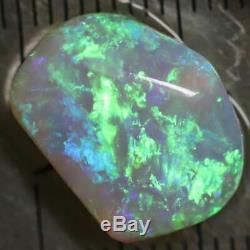 7.20 Cts Australian Opal, Lightning Ridge, Solide Rugueux, Crystal Rub Gem Pierre