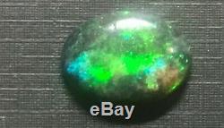 7 Carat Feu Énorme Solid Black Opal Imprimer Avec Vallonnés (lot 2)