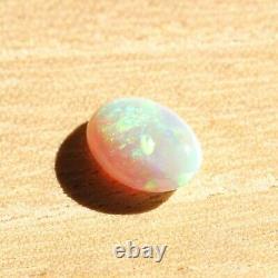 9.2 X 6.8mm 1.23ct Semi Noir Opal Naturel Éclair Solide Ridge Opal Australie